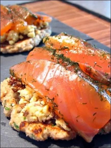 blinis saumon sans creme fraiche