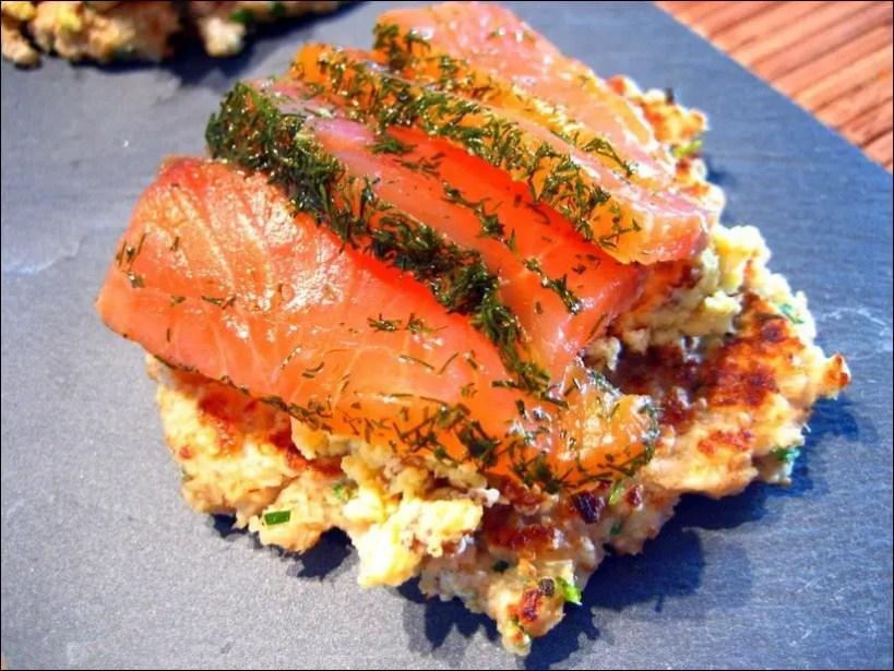 blinis et saumon fume