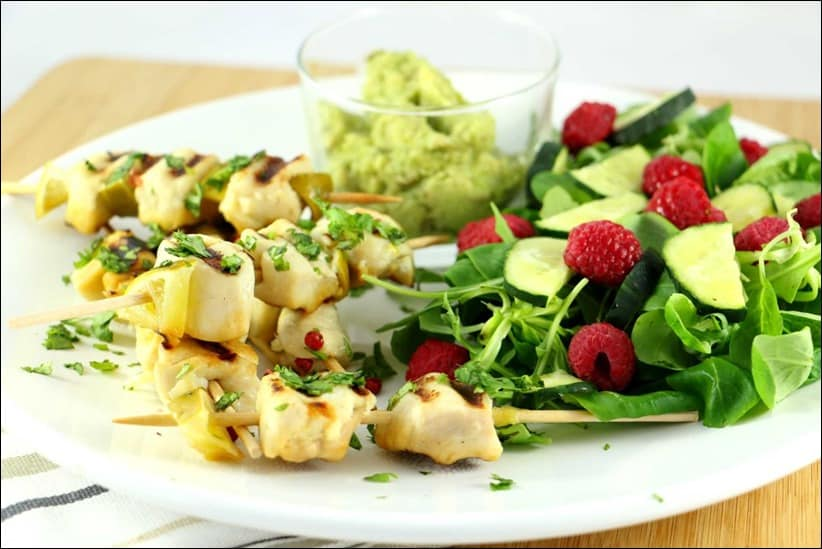 brochettes poulet grill