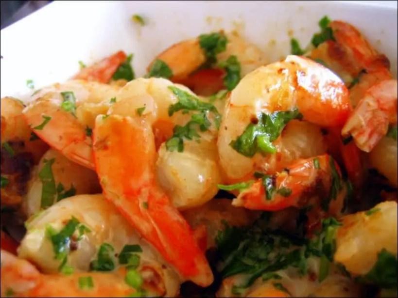crevettes sautées au gingembre et lait coco