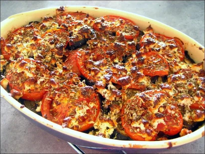 gratin de légumes à la grecque