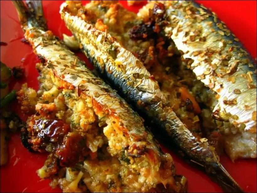 sardines farcies au four