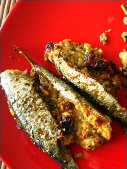 sardines farcies au parmesan
