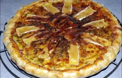 tarte aux lardons cancoillotte et camembert