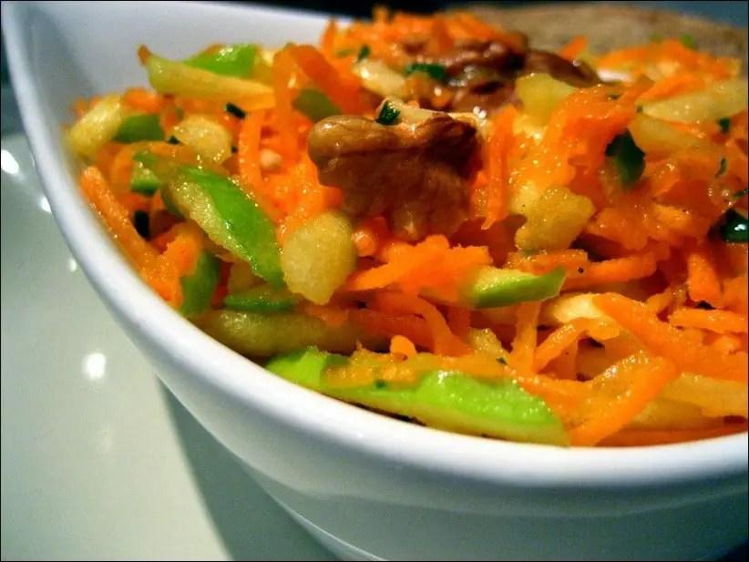 carotte rapée pomme verte noix