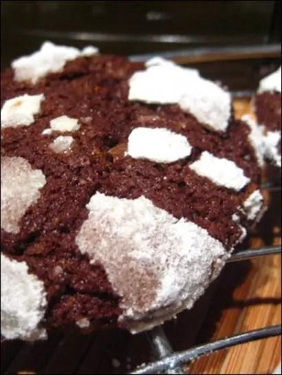craquelés chocolat noir