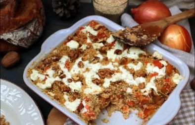 Gratin de quinoa aux patates douces et au chèvre frais
