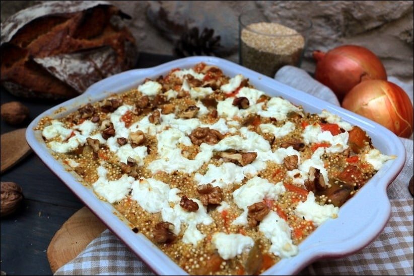 gratin quinoa sans oeuf