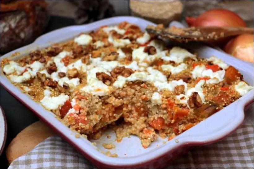 gratin quinoa chevre frais