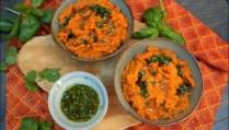 purée de patestes douces sauce aux herbes et citron vert de Yotam Ottolenghi