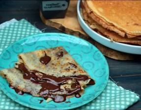 crêpes au lait d'amandes et crème chocolat praliné express