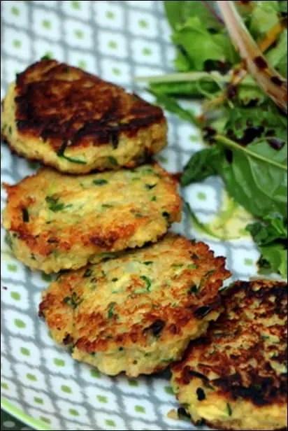 croquettes végétarienne quinoa courgette chevre