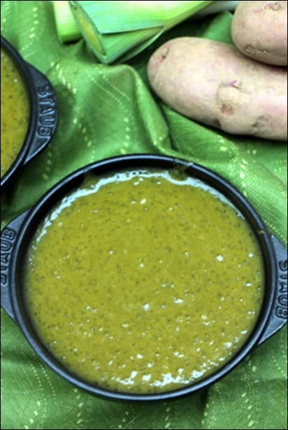 soupe poireau et pomme de terre