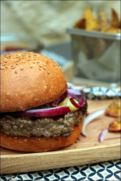 burger boeuf maison