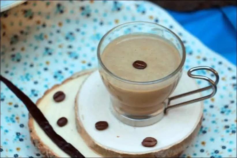 crème anglaise parfumée au café