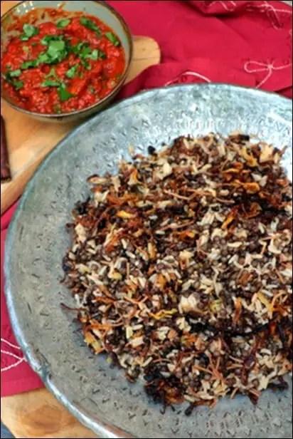 riz lentilles egypte