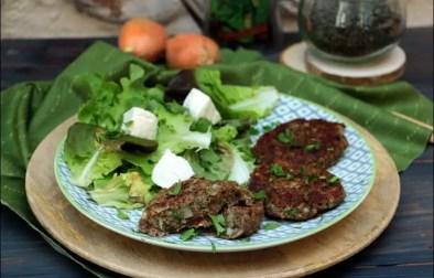 steaks de lentilles à la coriandre