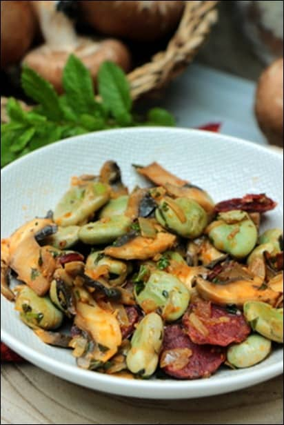 Feves-chorizo-champignons-menthe (5)