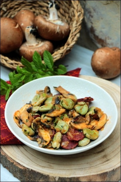 Feves-chorizo-champignons-menthe (6)
