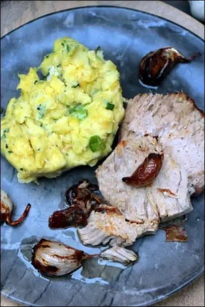 rôti filet de porc ail confit