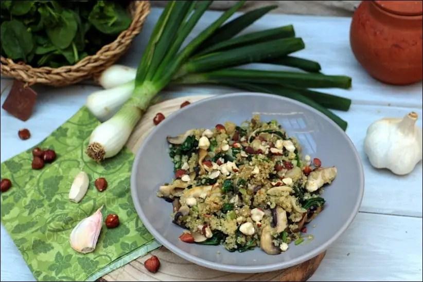 quinoa oignon epinard