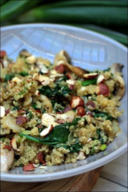 poelee quinoa champignons