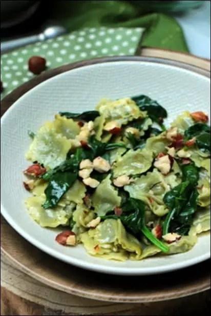 ravioles épinards frais