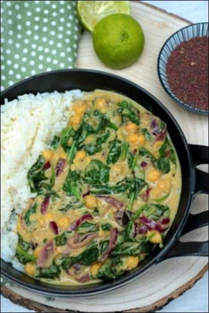 curry d'épinards à l'indienne