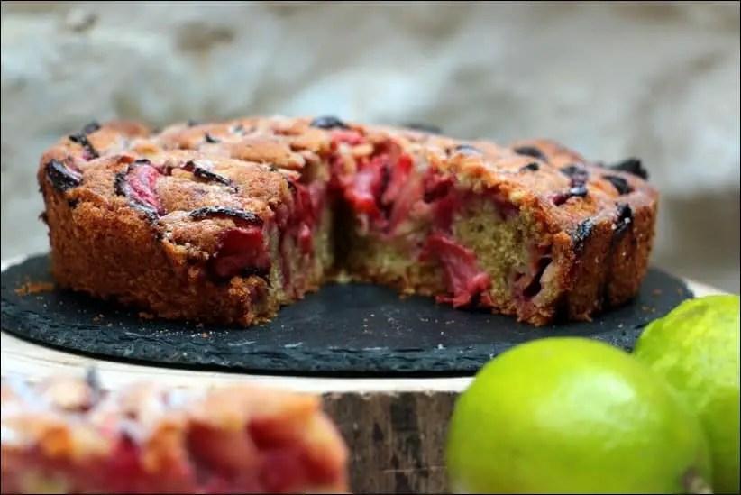 gâteau moelleux fraises