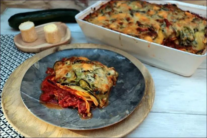 lasagnes aux courgettes tomates et chèvre