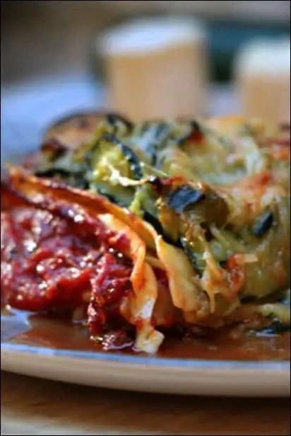 lasagnes de courgette sauce tomate