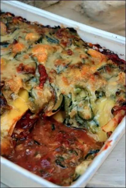 lasagnes courgette tomate