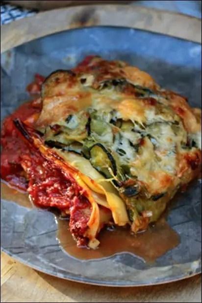 lasagnes de courgettes sans viande
