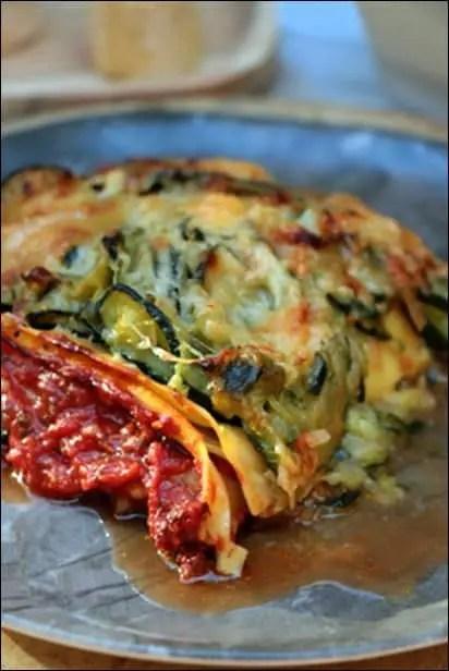 lasagne courgette dietetique