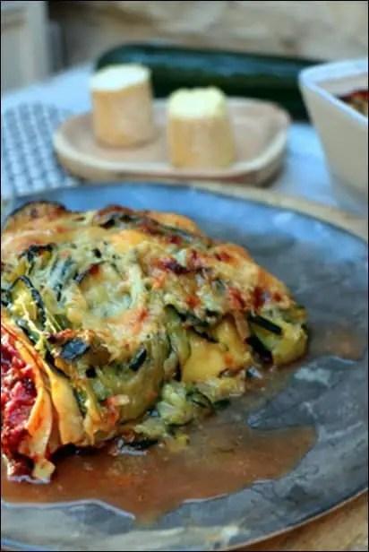 lasagnes de courgettes chevre
