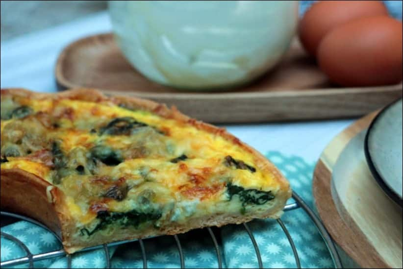 quiche originale epinard