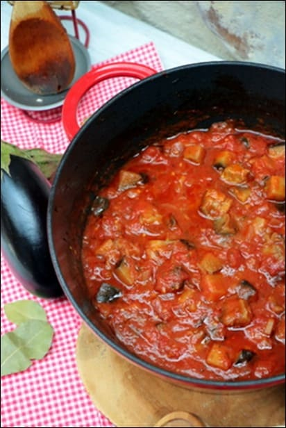 riste aubergine tomate