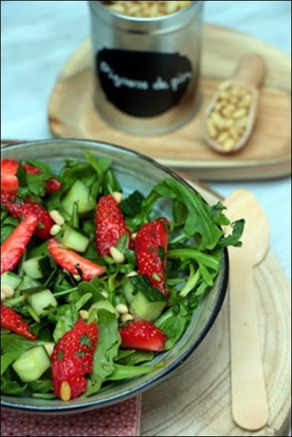 salade fraise originale