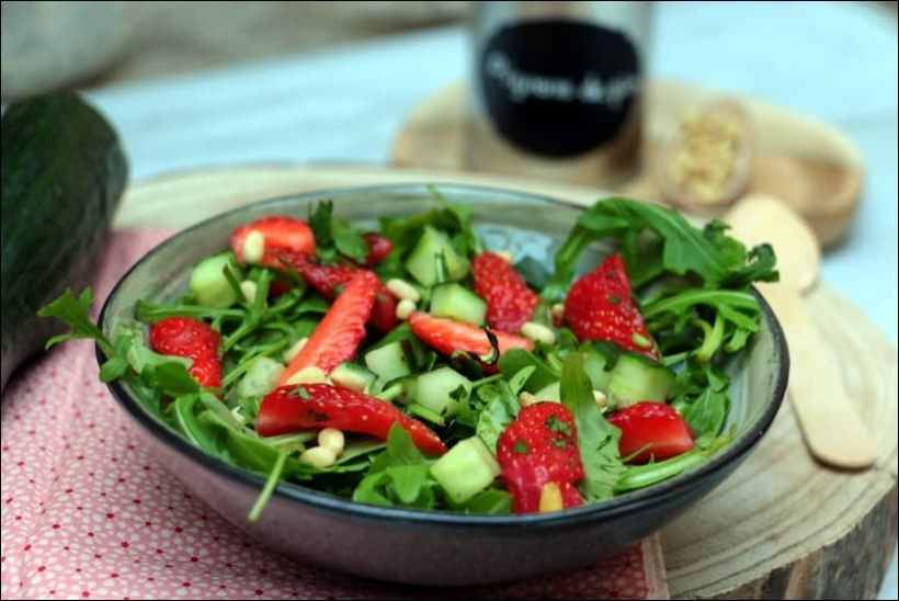 salade fraise concombre