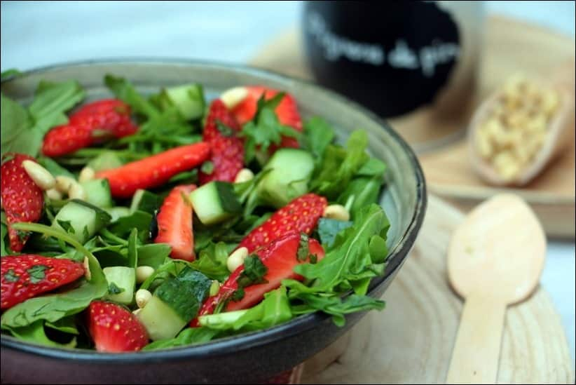 salade verte fraises recette