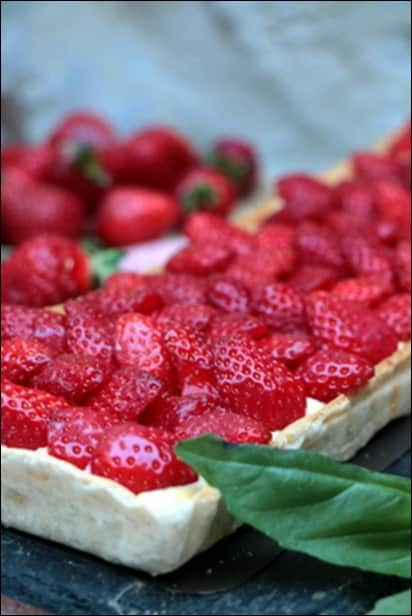 tarte fraise cyril lignac