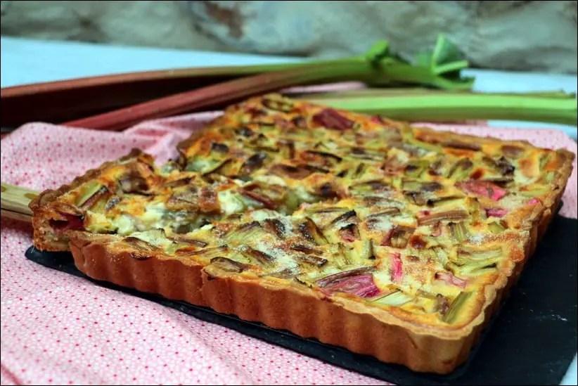 tarte à la rhubarbe alsacienne