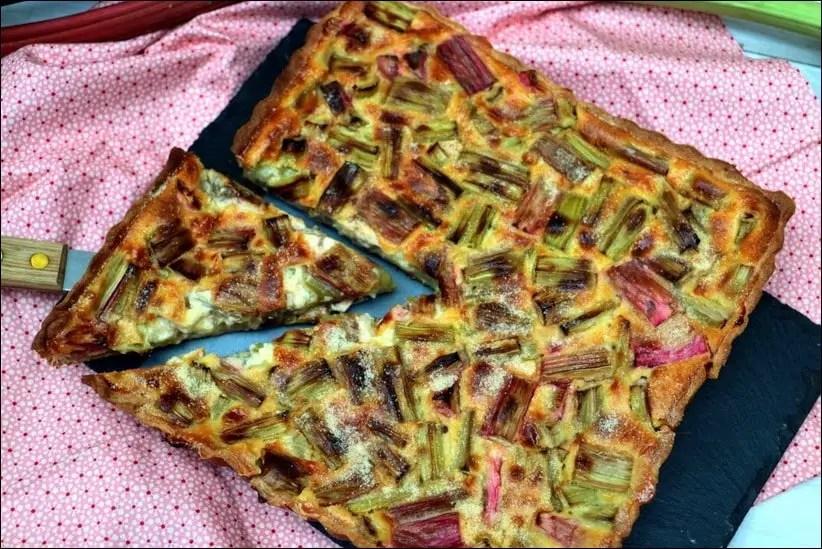 tarte alsacienne à la rhubarbe
