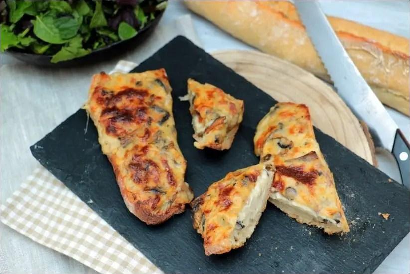 tartine pain lardon fromage