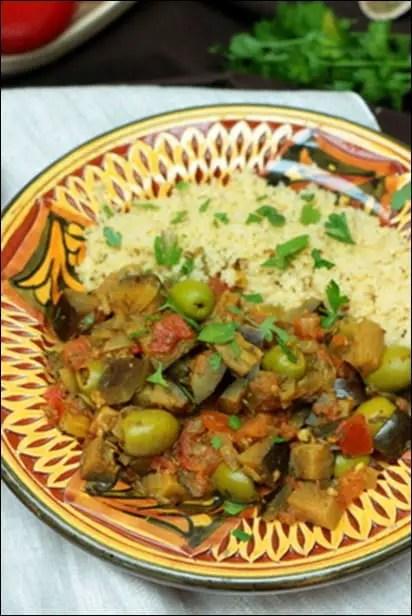 aubergine tomate olive