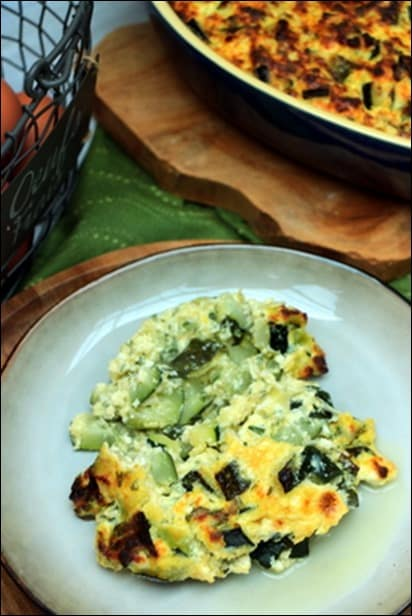 gratin courgette brousse menthe