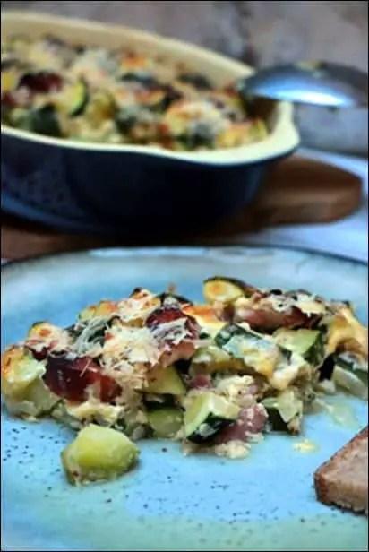 gratin courgettes dietetique