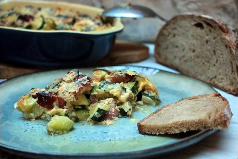 gratin courgettes moutarde