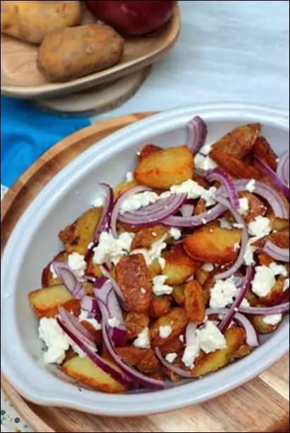 pommes de terre sautées feta
