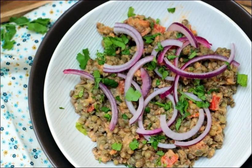 salade lentilles ottolenghi